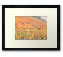 Wildflower Mural Framed Print