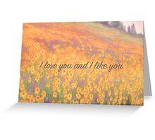 Wildflower Mural Greeting Card