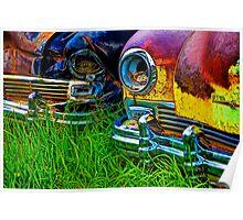 Vintage Frazer Auto Wreck Front Ends Poster