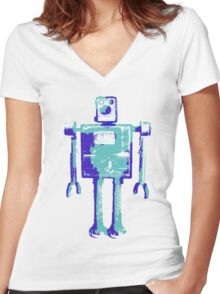 Robot Robot Women's Fitted V-Neck T-Shirt