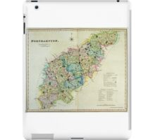 Old Colour Map of Northamptonshire iPad Case/Skin