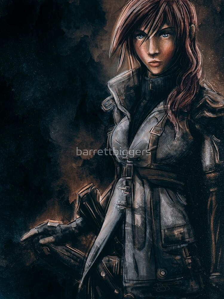 Lightning from Final Fantasy 13 Painting by barrettbiggers