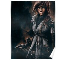 Lightning from Final Fantasy 13 Painting Poster