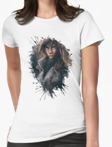 Lightning from Final Fantasy 13 Painting Womens Fitted T-Shirt