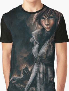 Lightning from Final Fantasy 13 Painting Graphic T-Shirt