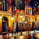 WHEN THE CITY SLEEPS- OIL PAINTING BY LEONID AFREMOV by Leonid  Afremov