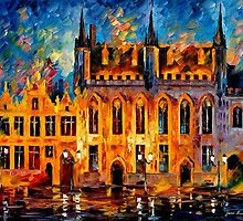 BRUGES- OIL PAINTING BY LEONID AFREMOV by Leonid  Afremov