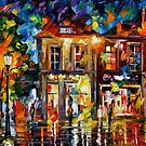 NIGHT IMAGINATION - OIL PAINTING BY LEONID AFREMOV by Leonid  Afremov
