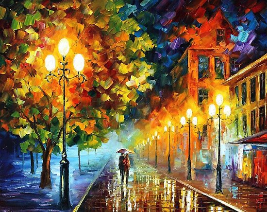 Leonid Afremov     Portfolio     ROMANTIC NIGHT - OIL PAINTING BY    Famous Romance Paintings