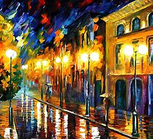 FASCINATION OF THE NIGHT - OIL PAINTING BY LEONID AFREMOV by Leonid  Afremov