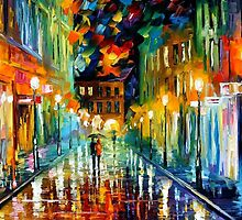 ROMANTIC EVENING - OIL PAINTING BY LEONID AFREMOV by Leonid  Afremov