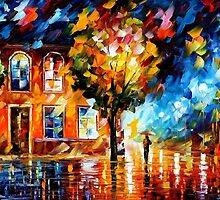 CITY OF MOON LIGHT- OIL PAINTING BY LEONID AFREMOV by Leonid  Afremov