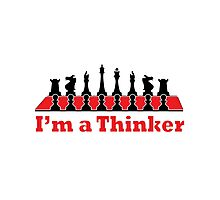 I'm a Thinker (Chess Player) Photographic Print