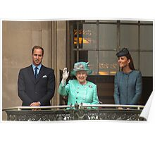 The Queen And The Duke And Duchess Cambridge Poster