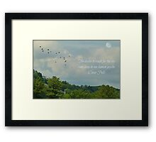 The desire to fly - greeting card Framed Print