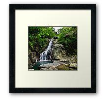 Hiji Falls Full Framed Print