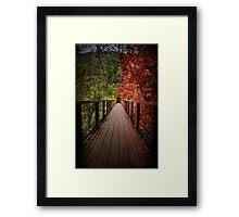 Indecisive Bridge Framed Print