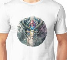 Ashitaka Demon Mononoke Digital Painting Unisex T-Shirt