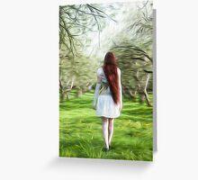 Entering Wonderland Greeting Card