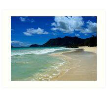 Bellows Beach (Oahu) Art Print