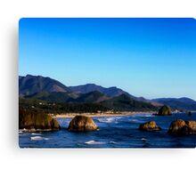 Ecola looking toward Canon Beach Canvas Print