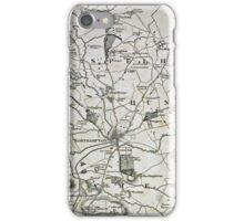 Old Northamptonshire map - Northampton iPhone Case/Skin