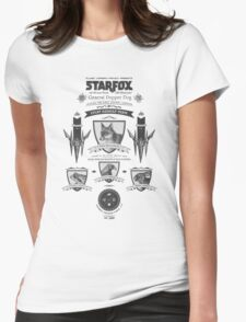Star Fox Nintendo Vintage Poster Womens Fitted T-Shirt