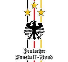 Germany (Deutscher Fussball-Bund) white IPhone Case by Havok15