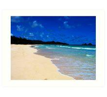 Bellows Beach (Oahu) II Art Print
