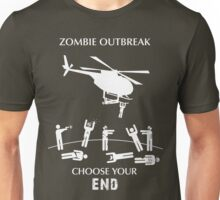 "Zombie Outbreak - ""Choose Your End"" Unisex T-Shirt"