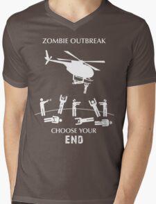 "Zombie Outbreak - ""Choose Your End"" Mens V-Neck T-Shirt"