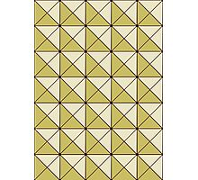 Gold Cubix Pattern Photographic Print