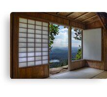 Japan House on Hill Canvas Print