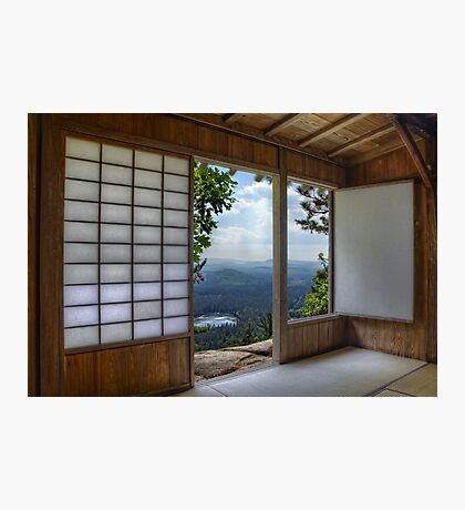 Japan House on Hill Photographic Print