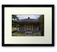 Japanese Hut Framed Print