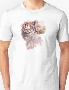 Mononoke and the Wolf Digital Painting Unisex T-Shirt