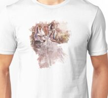 Mononoke and the Wolf Digital Painting Unisex T-Shirt
