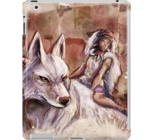 Mononoke and the Wolf Digital Painting iPad Case/Skin