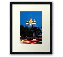 Wat Saket and the Golden Mount Framed Print