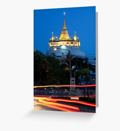 Wat Saket and the Golden Mount Greeting Card