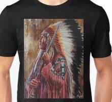 Undaunted Leader, Lakota, Native American art, James Ayers Unisex T-Shirt