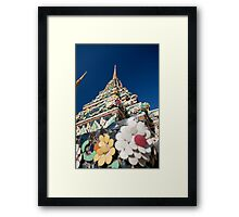 Decorated Stupa, Wat Pho Framed Print