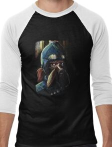 Nausicaa Valley of the Wind Anime Tra Digital Painting  Men's Baseball ¾ T-Shirt