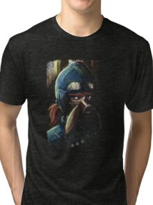 Nausicaa Valley of the Wind Anime Tra Digital Painting  Tri-blend T-Shirt