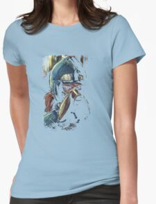 Nausicaa Valley of the Wind Anime Tra Digital Painting  Womens Fitted T-Shirt