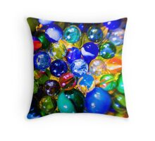 Psychedelic Marbles Throw Pillow