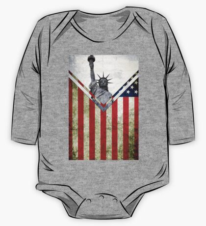 Flags - USA One Piece - Long Sleeve