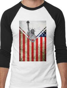 Flags - USA Men's Baseball ¾ T-Shirt
