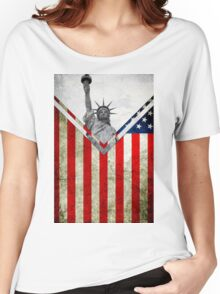 Flags - USA Women's Relaxed Fit T-Shirt