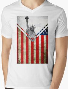 Flags - USA Mens V-Neck T-Shirt